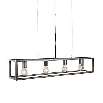 QA-QA Moderna lampada a sospensione antracite - Gabbia 4
