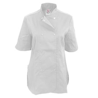 Dennys Womens/Ladies Short Sleeve Fitted Chef Jacket (Pack of 2)