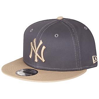 New Era 9Fifty Snapback Cap - NY Yankees graphite / beige