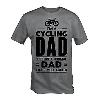 Im een fiets vader t shirt fietser Fathers Day Bike Funny