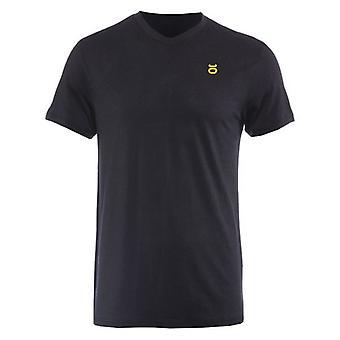 Jaco Mens Tenacity Performance V-neck T-Shirt - Black - street mma training