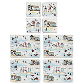 Cooksmart Beside the Seaside Placemats and Coasters