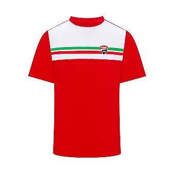 Ducati Corse Mens Tricolour T-Shirt | Red | 2019 Season