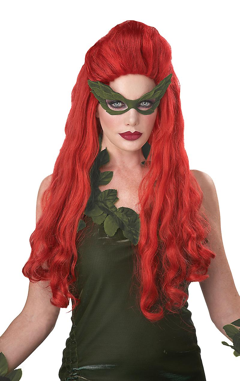 Womens Lethal Beauty Long Red Wig Halloween Fancy Dress Costume Accessory