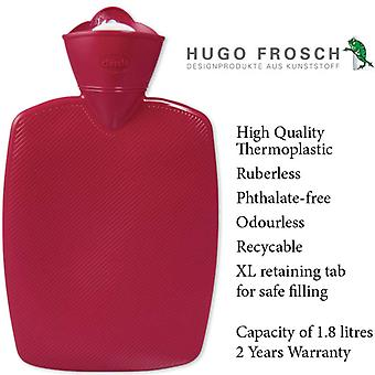 Hugo Frosch Hot Water Bottle Classic Red 1.8L