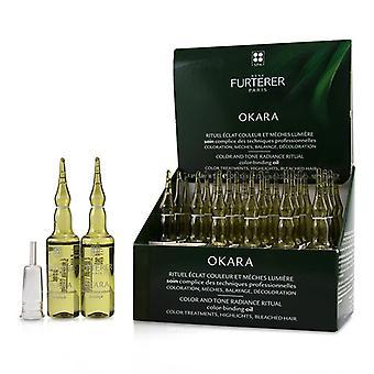 Rene Furterer Okara Color And Tone Radiance Ritual Color-binding Oil (color Treatments Highlights Bleached Hair) - 24x10ml/0.33oz