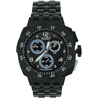 Zaza London Black Chrono Effect Ladies Gents Plastic  Bracelet Strap WatchPL342