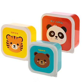Puckator Set of 3 Lunch Boxes, Cutiemals