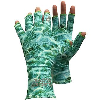Glacier Glove Abaco Bay Fingerless Sun Gloves - Green Water Camo