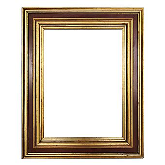 30x40 cm or 12x16 inch, gold Frame