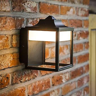 Lutec Zoe 9W lantaarn buitenmuur LED licht zwart