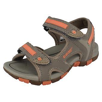 Childrens Hi-Tec Riptape-strop sandaler stil - GT rem