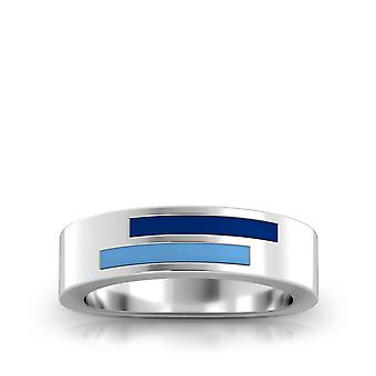 Kansas City Royals Sterling Silver Asymmetric Enamel Ring In Blue and Sky Blue
