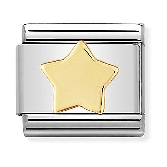 Nomination Classic Star Steel and 18k Gold Link Charm 030110/17