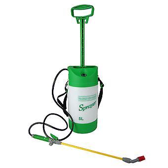 5 Litre Pressure Sparyer Hand Action Spray For Home Garden Weed Killer Chemicals