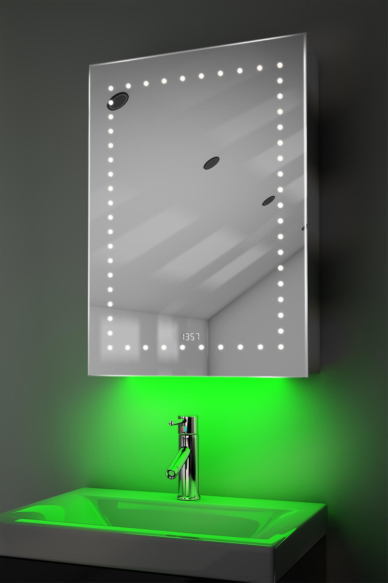 Clock Cabinet With RGB , Demister, Sensor & Shaver k389rgb