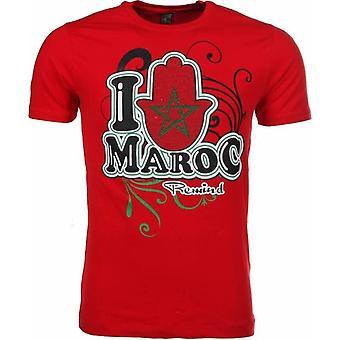 T-Shirt I Love Maroc-Red