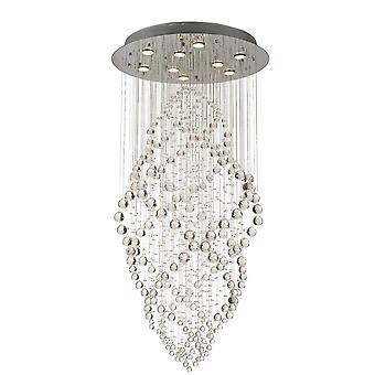 Diyas Colorado Pendant Oval 9 Light Polished Chrome / Crystal