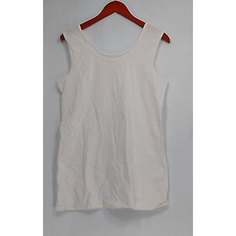 Denim & Co. Kobiety's Top Essentials Tunic Length Tank White A272169