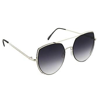 Sunglasses Ladies Cat Eye - Silver/Zwart1997_6