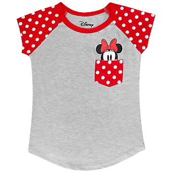 Minnie Mouse Youth Taille Pocket Tee