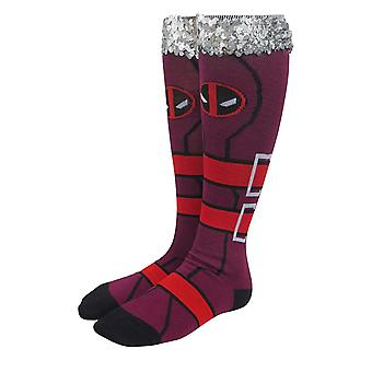 Deadpool Costume Women's Knee High Socks