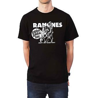Ramones T Shirt Gabba Gabba Hey Cartoon Band Logo new Official Mens Black