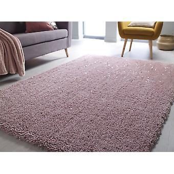 Veloce Blush Pink Rectangle Rugs Plaine / Presque Plaine Rugs