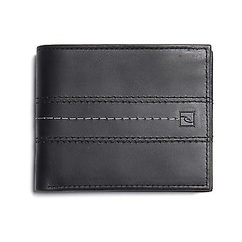Rip Curl Stitch Icon RFID 2 In1 Leather Wallet in Black