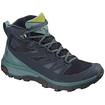 Salomon Outline Mid Goretex 13 L40484600 trekking todos os anos sapatos femininos