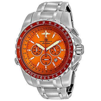 Oceanaut Men-apos;s Aviador Pilot Orange Dial Watch - OC0115