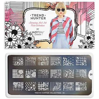 MoYou London Nail Art Image Plate - Trend Hunter 01 (MPTRE01)
