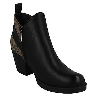Spot On Womens/Ladies Printed Ankle Boots