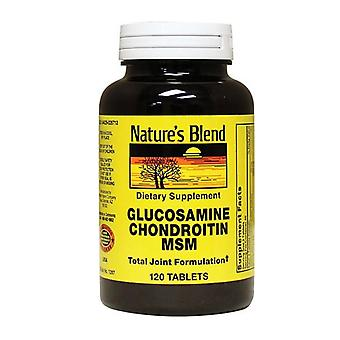 Nature's blend glucosamine chondroitin msm, tablets, 120 ea