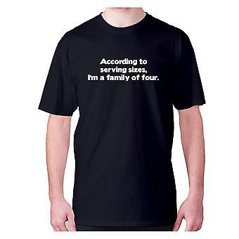 Mens Funny foodie t-paita isku lause tee syöminen hilpeä-mukaan palvelevat koot, olen ' m perheen neljän