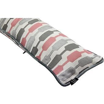 Mcalister textiles lotta blush pink + grey draught excluder