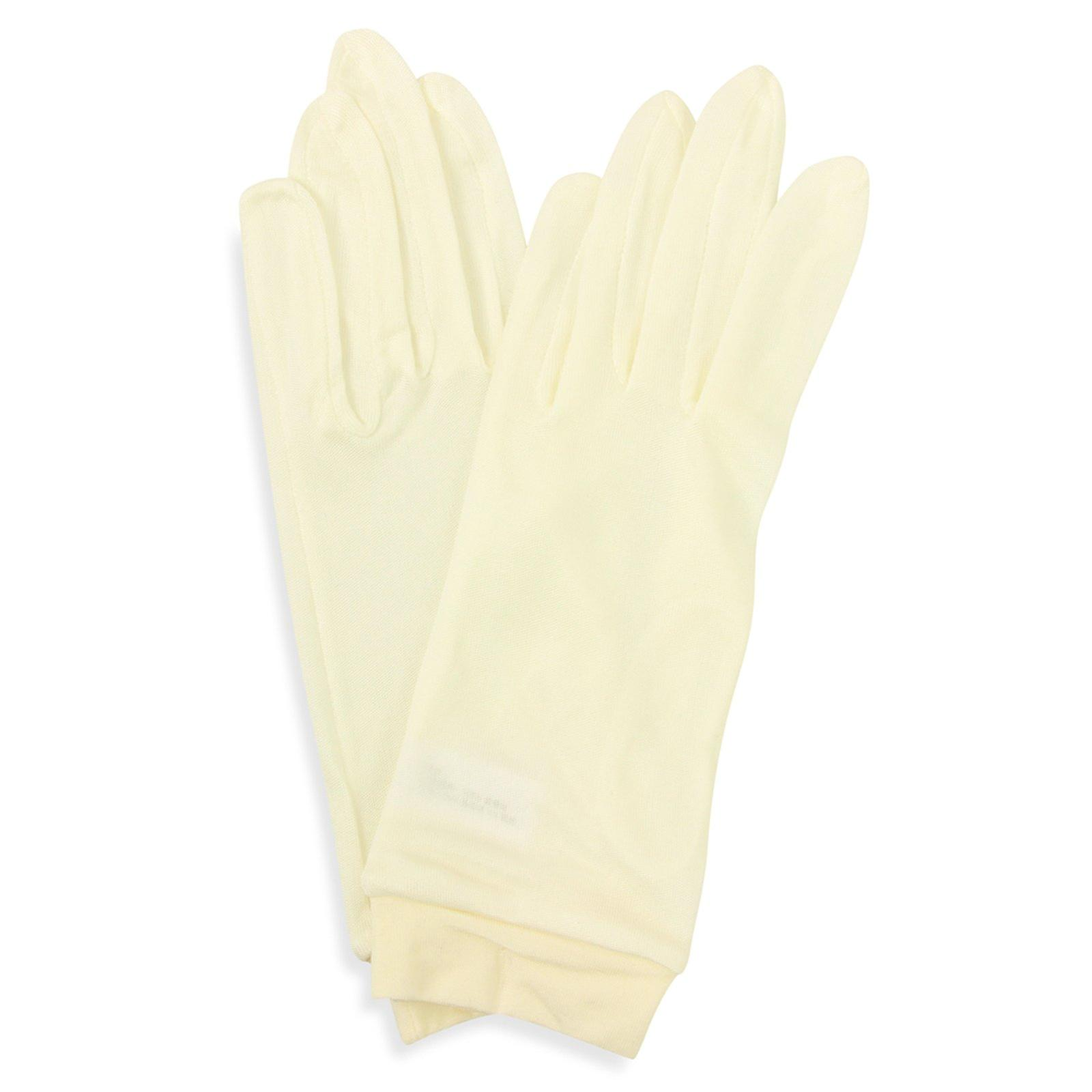 Pure silk gloves,  hypoallergenic, reduces the signs of aging -