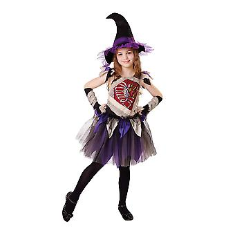 Girls Zombie Witch Fancy Dress Costume