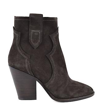 Ash Footwear Esquire Brown Suede Heeled Boot