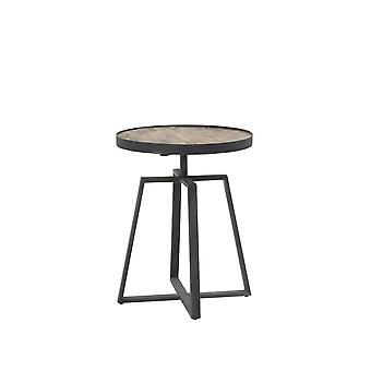 Light & Living Side Table Ø40x50 Cm MORATA Weathered Wood-antique Grey