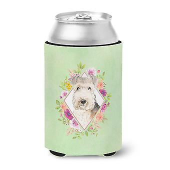 Lakeland Terrier Green Flowers Can or Bottle Hugger