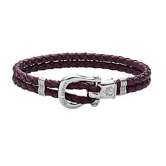 Paul Hewitt PH-FSH-L-S-DM Bracelet - PhINITY Violet Leather Steel