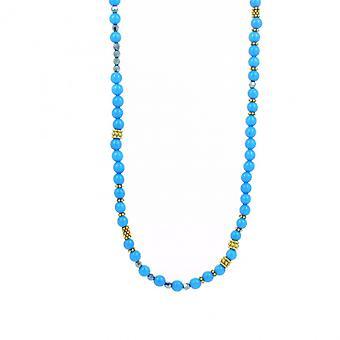 Collier Les Interchangeables A59276   - Sautoir Bobo Chic Bleu  Femme