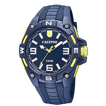 Montre Calypso K5761-2 - STREET STYLE Bracelet R�sine Bleu Boitier R�sine Bleu Homme