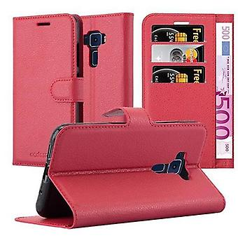 Cadorabo Case for Asus ZenFone 3 Case Cover - Phone Case with Magnetic Closure, Stand Function and Card Case Compartment – Case Cover Case Case Case Case Case Book Folding Style
