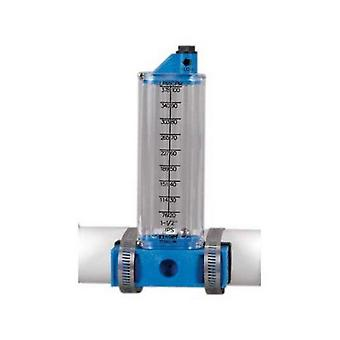 """Rola-Chem 570341S 25-60 GPM Side Mount Flow Meter for 1.5"""" PVC Pipe"""