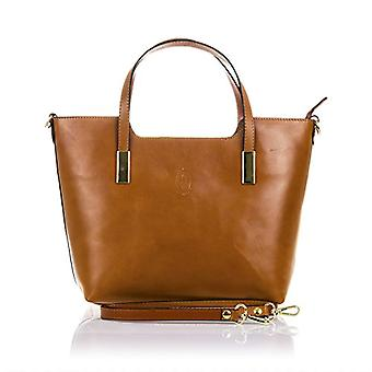 FIRENZE ARTEGIANI.bag TOTE real leather woman. Real leather leather bag finished Tamponato. Tatto soft and refined luxury. MADE IN ITALY. REAL ITALIAN SKIN. 37x26x14 cm. Color: Camello