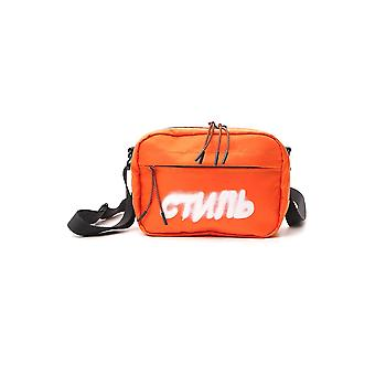 Heron Preston Hmna011s209430081901 Men's Orange Nylon Messenger Bag