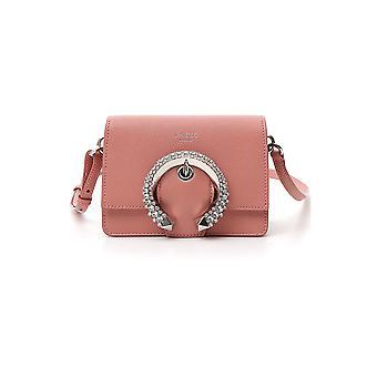 Jimmy Choo Madelineshouldergtgblush Women's Pink Leather Shoulder Bag