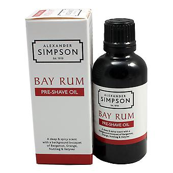 Simpsons Pre-Shave Oil - Rhum de baie 50ml
